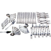 71 piece Towle French Provincial Sterling Silver Flatware Set Service