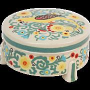 1920's Art Nouveau American Satsuma Hand Painted Parrot Jar Signed Hart
