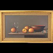 "Jan Palmu ""Oranges"" Realistic Still Life Oil Painting Finland"