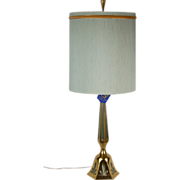 Mid-Century Modern Rembrandt Brass Table Lamp Original Tags