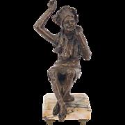 Vintage Bronze Sculpture African American Woman Testifying in Church
