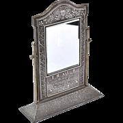 1920s TRAUB Orange Blossom Diamond Jewelry Advertising Mirror Counter Display