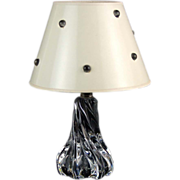 SOLD Baccarat Hand Blown French Crystal Twisted Boudoir Lamp