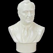 1941 Wedgwood Glazed Porcelain Bust of Franklin D. Roosevelt