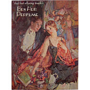 Antique Ben Hur Perfume Advertising Poster Counter Window Card