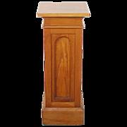 Vintage Solid Oak Architectural Sculpture Pedestal Plant Stand