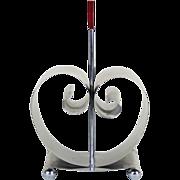 Fred Farr Revere Art Deco Modernist Bakelite Chrome Magazine Rack