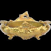Antique French 19th Century Gilt Brass Art Nouveau Ferner Jardiniere Planter