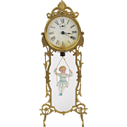 SOLD 1886 Ansonia Jumper #2 Bouncing Porcelain Doll Clock