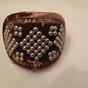 Vintage new with tags Rachel Block Barrette hallmarked Italy
