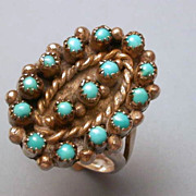 Vintage Native American  Turquoise & Sterling Silver Ring