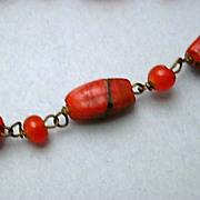 Unique  Glass Bead Necklace