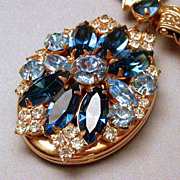 SALE PENDING Gorgeous Hobe Demi Parure Necklace and Earrings hallmarked