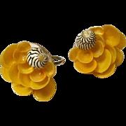 Vintage Summer Flowers  Screwback Earrings