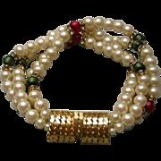 Mimi Di N Rare Vintage Quattro Strand Bracelet