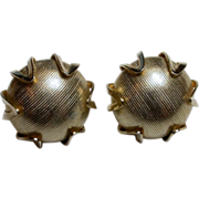 """Vintage Signed """"Coro"""" Goldtone Clip -On Earrings"""
