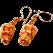 Jules Van Rouge Skull Dangle Earrings