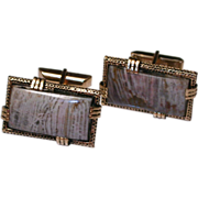 Retro Jasper Cuff Links marked
