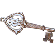 Sterling Silver Key Charm #18