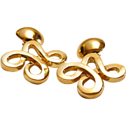 Stunning Vintage Gold Filled Clip On Earrings