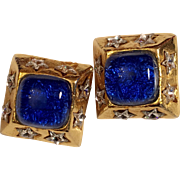Paris  Dominique Aurientis Clip on Earrings hallmarked