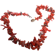 Natural Asian Coral  Necklace