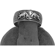 Sterling Silver Exhibition Red Bull Ring Bottle Opener
