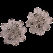 1950's Japan Glass Clip On Earrings hallmarked