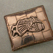 Fabulous antique signed Peruvian Brooch 900 silver
