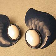 Vintage enamel earrings for pierced ears
