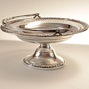 Antique sterling silver candy dish marked B Rogers Silver Co