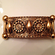 SOLD Vintage Made in France goldtone barrette by Rachael Block