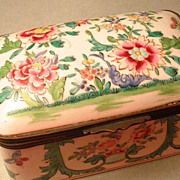 French hand painted porcelain box