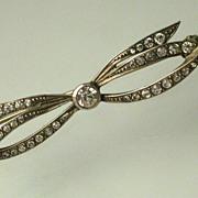 Antique Paste 900 Silver Brooch