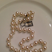 Vintage, New with Tags Trifari Faux Pearls
