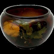 c 1900 Weller Aurelian Jardinière Kappas Grape Pattern Pottery Antique