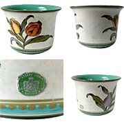 1953 Gouda Planter Royal Zuid Tulip Floral Irene Holland No 2810 17 Green White 1950's