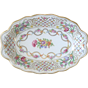 "Large Schumann Bavaria Oval Serving Bowl Platter 12-3/8 x 8-3/8"" Early ..."