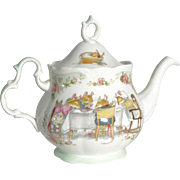 Royal Doulton ''Brambly Hedge'' 1985 teapot Jill Barklem design Full Size Ex Cond