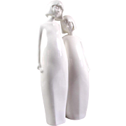 "Royal Doulton 9"" Figurine SISTERS from White Images Collection 1983"