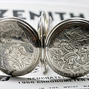 1914 Zenith  Grand Prix Sterling Silver Swiss Pocket Watch
