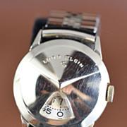 Lord Elgin Direct Read Jump Hour Vintage Men's Watch 1957