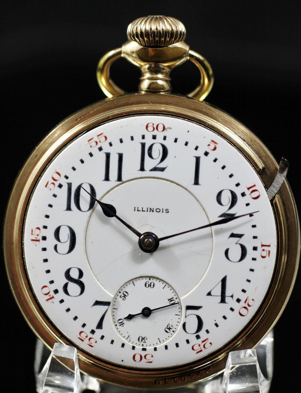 Illinois Railroad Grade Size 18 Pocket Watch From 1915