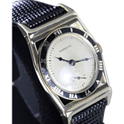 1948 Hamilton Piping Rock  Solid Gold Enamel Bezel
