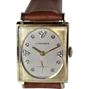 Longines Gold Diamond Men's Vintage Watch