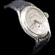 Hamilton 1928 Oval 14K White Gold Fill Vintage Watch with Presentation Box Circa 1928