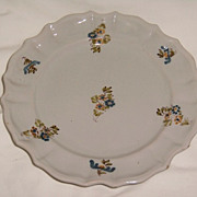 French Faience Plate - Collection De-Accession Label