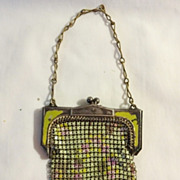 SALE Antique Whiting and Davis Mesh  Purse - Child Size