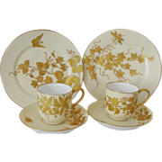 Limoges Cups Saucers Plates - Rare Pattern