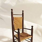 Old Dollhouse Country Ladder Back Chair